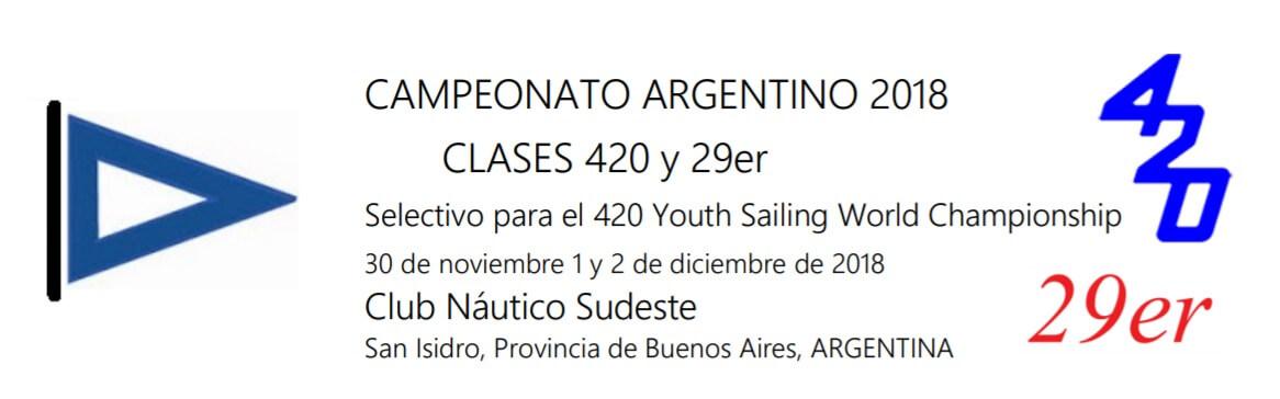 Campeonato Argentino 2018 - 420 29er