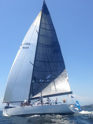 El Fortuna, navegando en la Regata Oceánica
