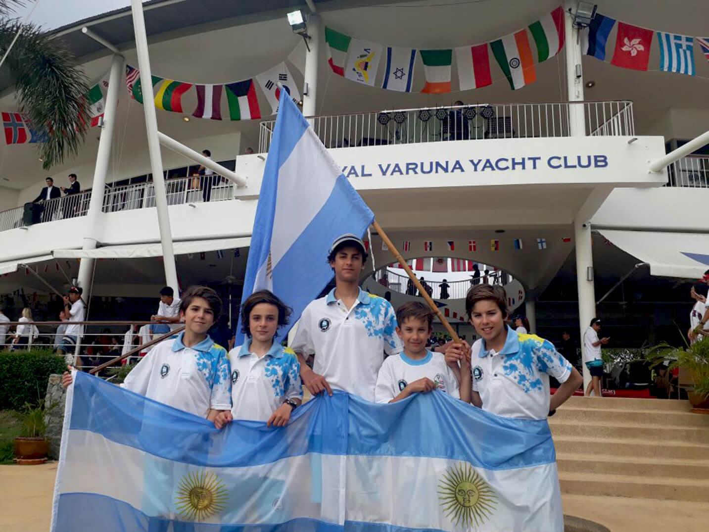 El Equipo Argentino de Optimist 2017