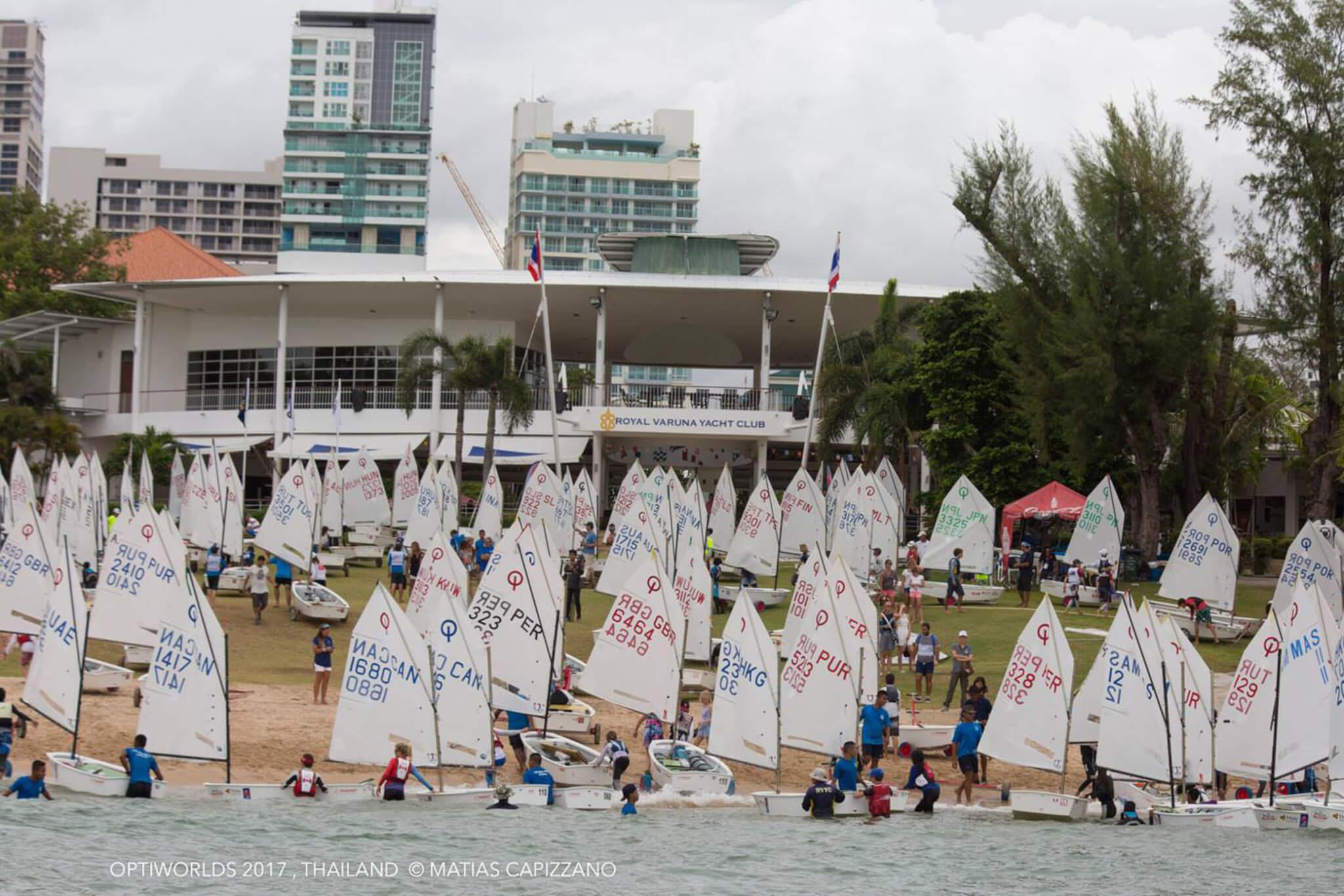 Más de 281 competidores en el Mundial de Optimist en Tailandia