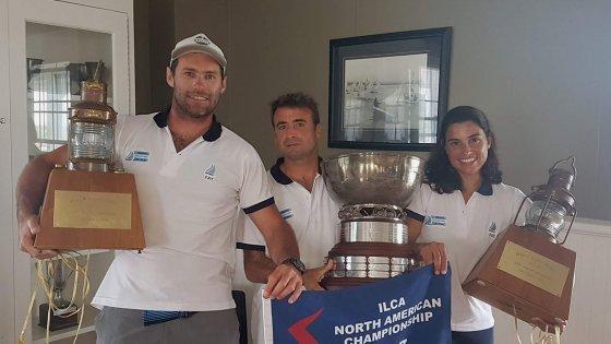 Equipo Argentino De Lightning campeón (Alsogaray-Conte-Salerno)