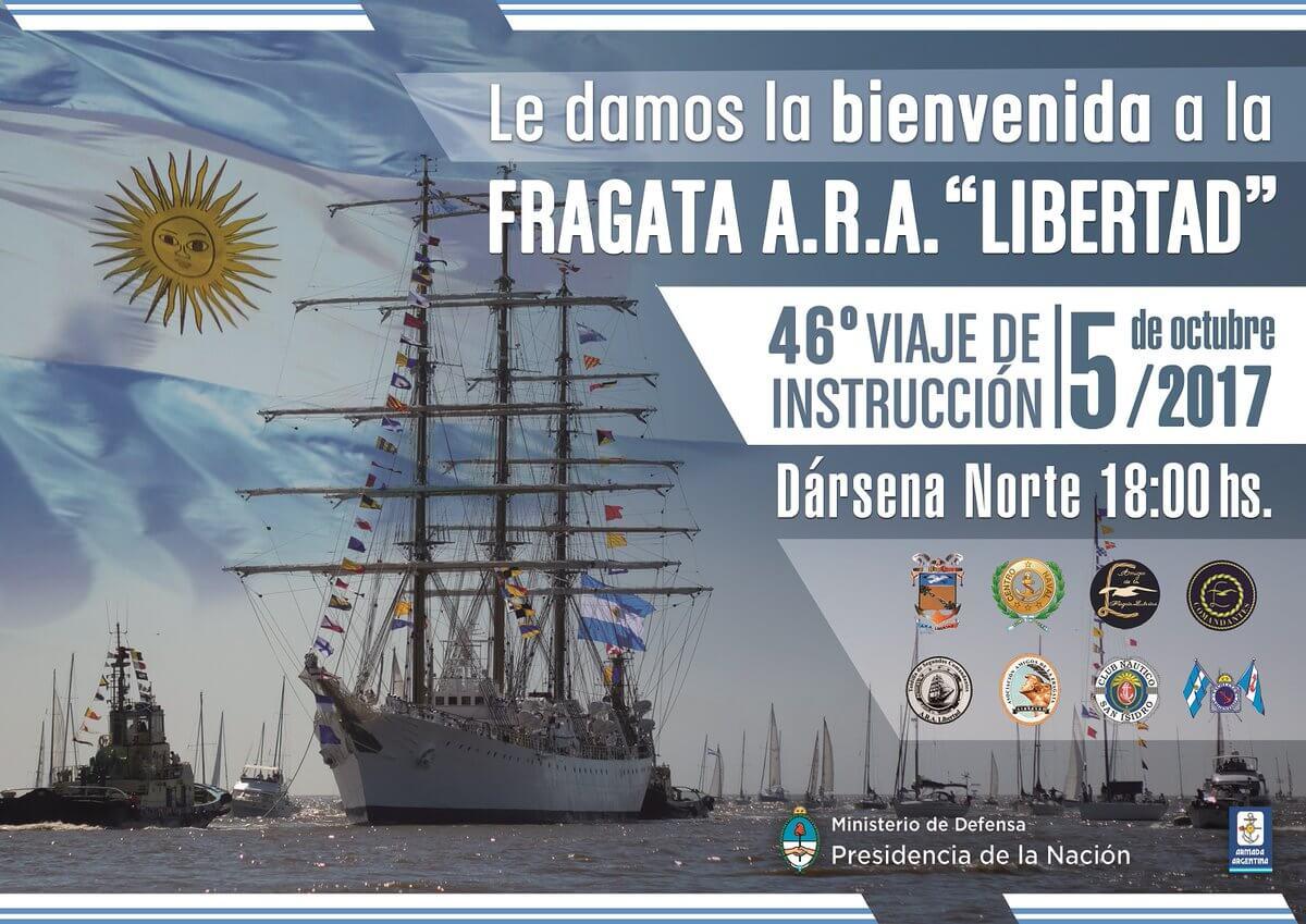 Llega La Fragata Libertad el 5 de octubre a las 18