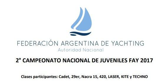 Logo 2º Campeonato Nacional Juvenil FAY