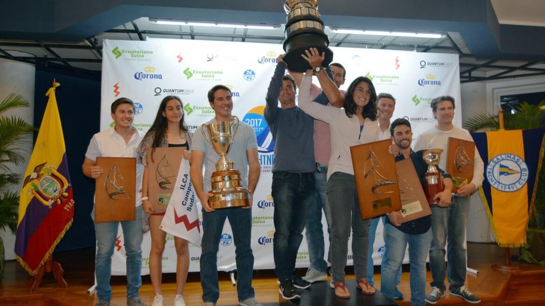 Conte - Alsogaray - Salerno campeones del Campeonato Sudamericano de Lightning
