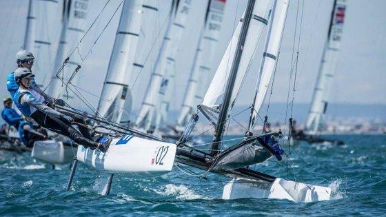 La dupla Majdalani-Bosco, navegando en Nacra 17