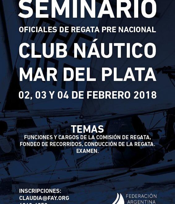 Seminario - Regata Pre Nacional - Club Náutico Mar del Plata