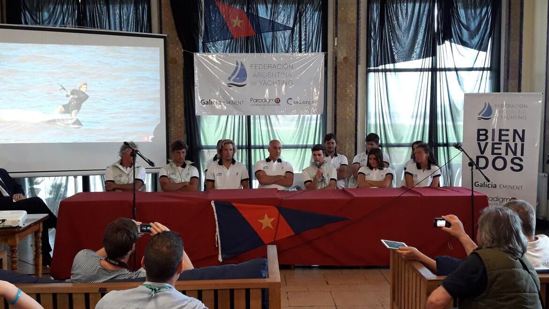 Conferencia de prensa del Equipo ArgentinoJuvenil de Vela antes de su debut en Buenos Aires 2018
