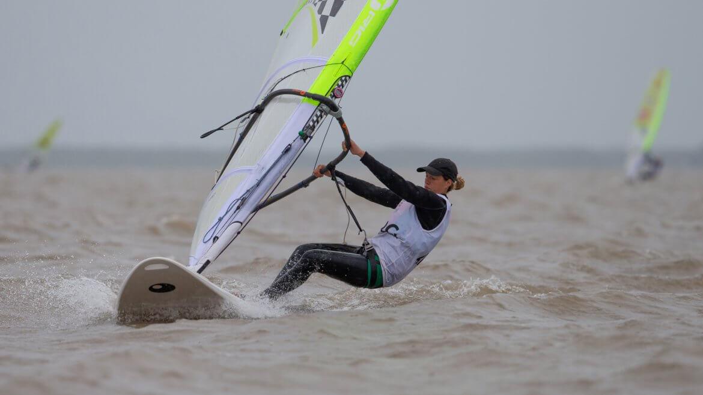 Celina Saubidet en regata