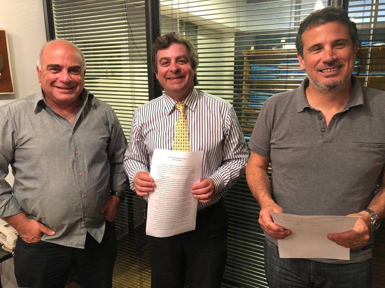 Convenio para el desarrollode la Escuela de Vela Adaptada - P.Patiño - R.Castelli - Ferrari