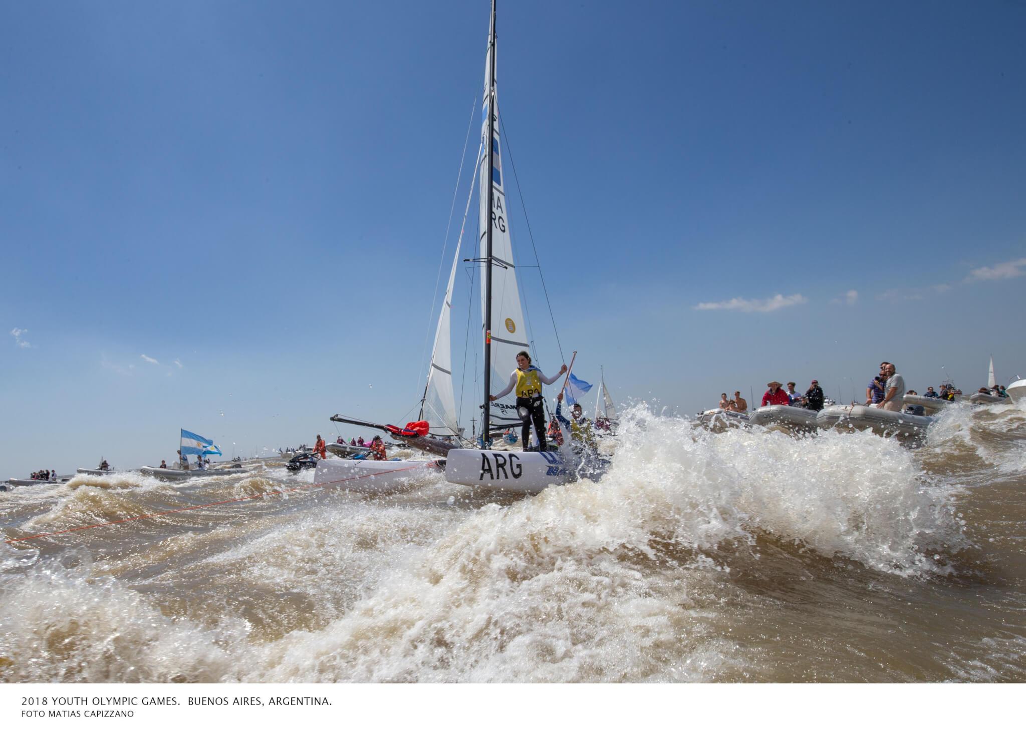 El barco de Nacra 15 Campeón Olímpico
