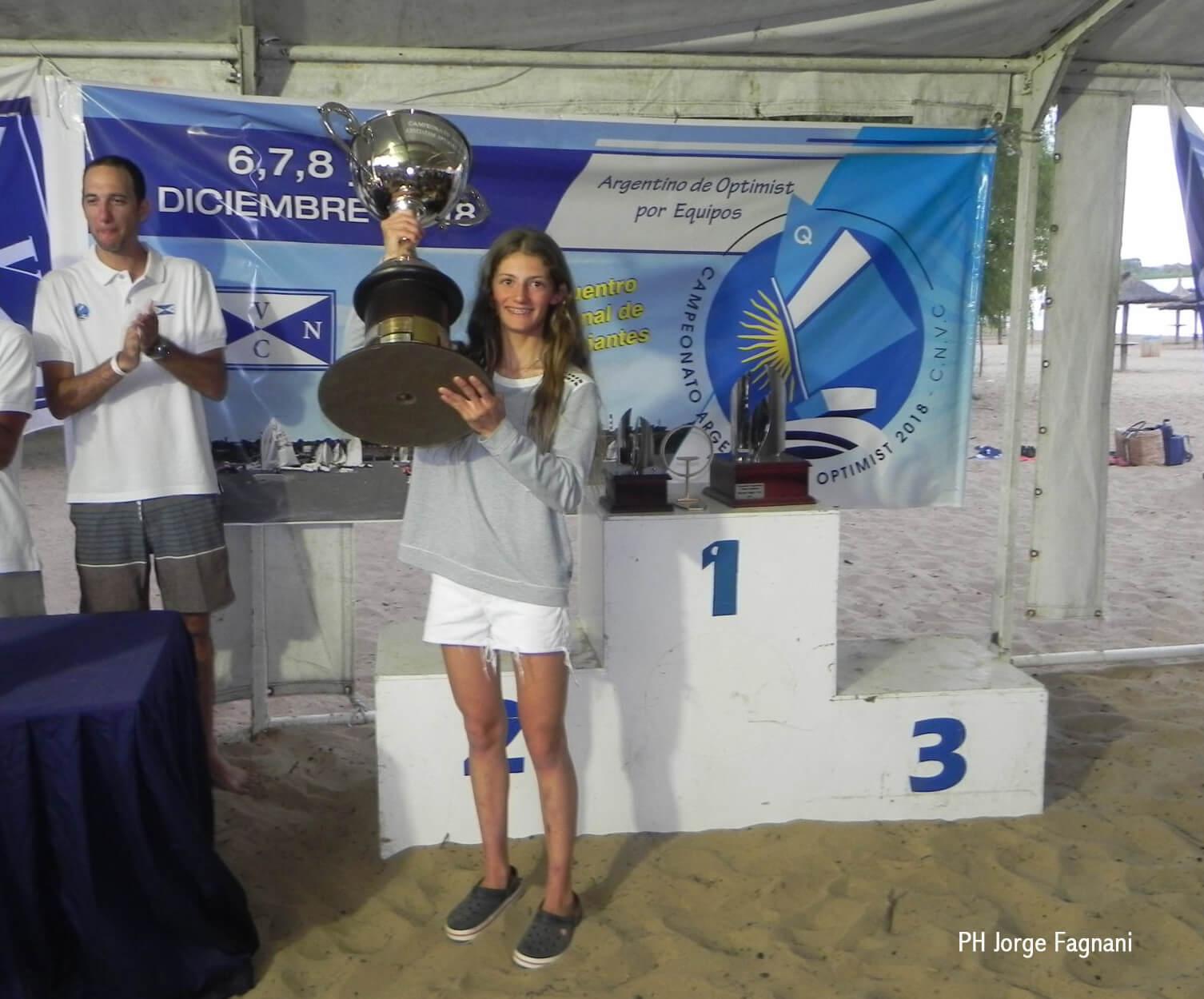 Campeonato Argentino de Optimist 2018 - Campeona Argentina