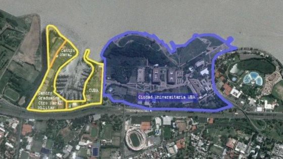 Las 24 hectareas que seran parte de la UBA