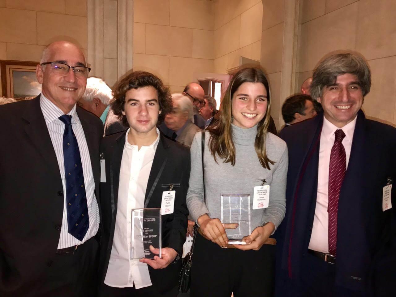 Dante Cittadini y Teresa Romairone fueron premiados por LIDE