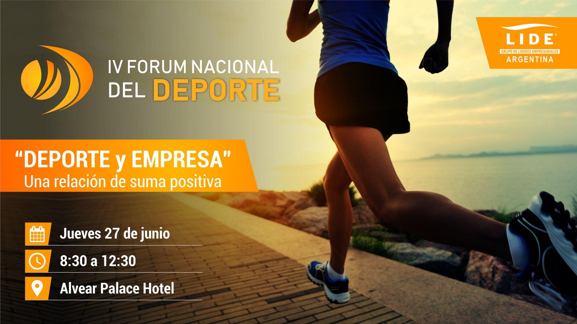 IV Forum Nacional del Deporte - Header
