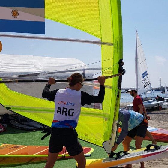 Bauti Saubidet a punto de comenzar la regata