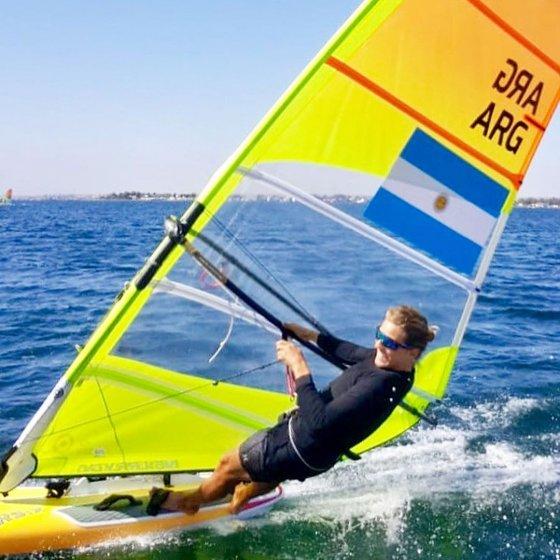 Bautista Saubidet navegando en Lima 2019