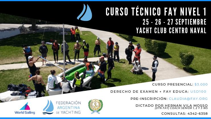 Curso Técnico FAY Nivel 1 - Curso Náutico - Yacht Club Centro Naval