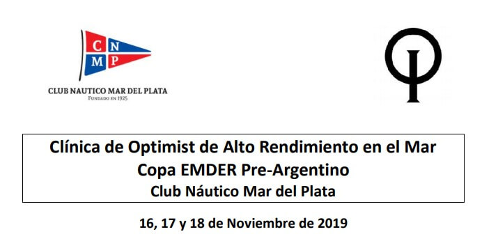 Clínica de Optimist de Alto Rendimiento en el Mar Copa EMDER Pre-Argentino