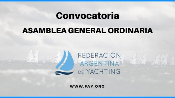 Convocatoria Asamblea General Ordinaria 2019