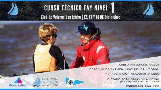 Curso Técnico FAY Nivel 1 en el Club de Veleros San Isidro