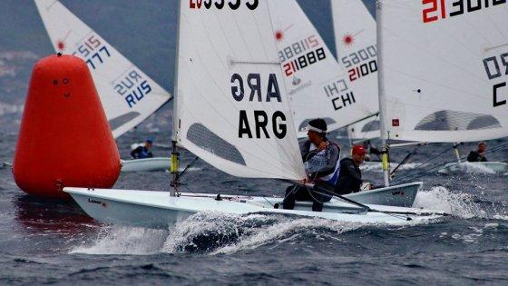 Juan Pablo Cardozo en el Campeonato Mundial de Laser