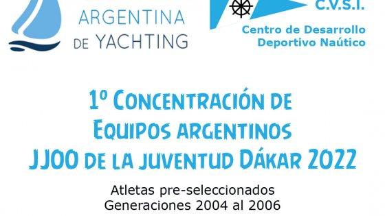 Juegos de la Juventud Dakar 2022 - Primera concentracion argentina