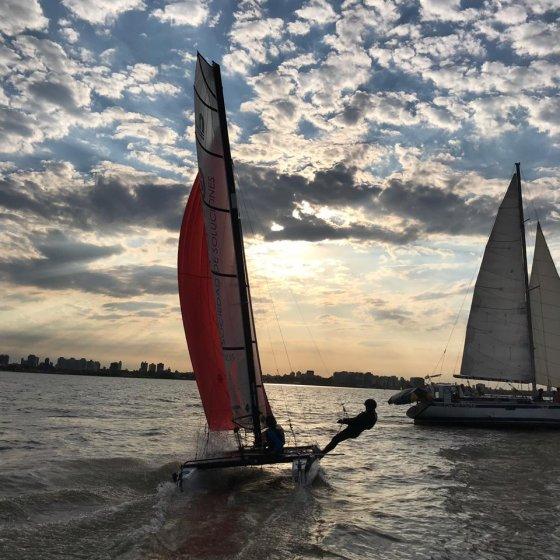 Navegando en Nacra 15 - JJOO Juventud - Dakar 2022 - 2