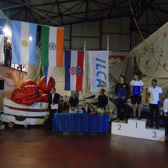 Podio del Campeonato Mundial de Laser - 1° puesto Argentino