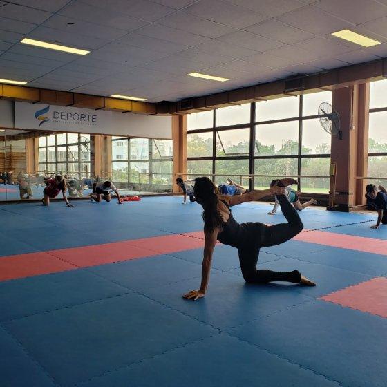 Yoga en la concentracion para Dakar 2022