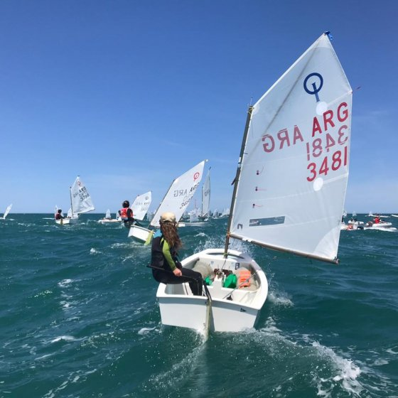 Optimist en el Campeonato Argentino de Optimist de Mar del Plata