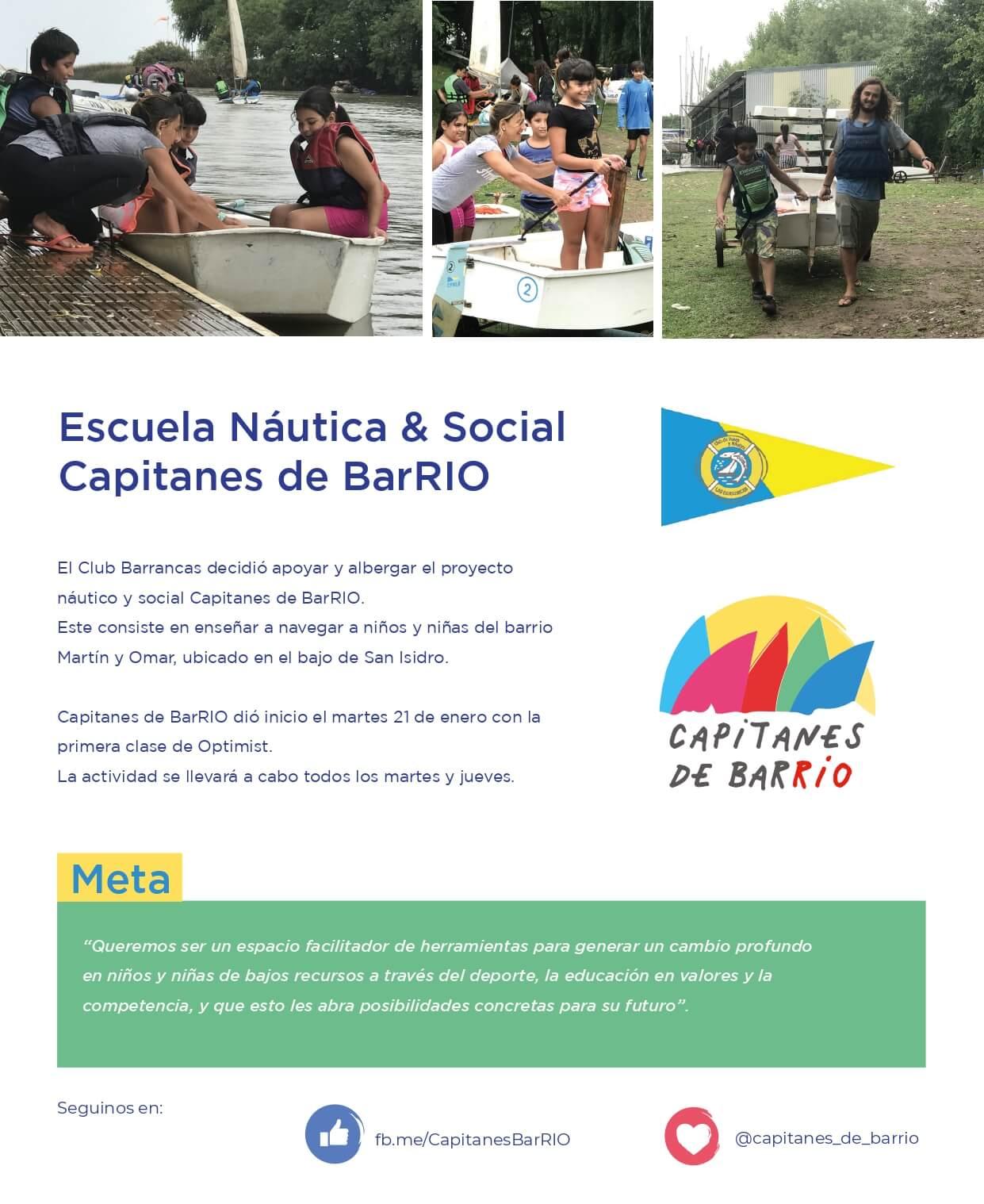 Escuela Nautica y Social de BarRio - Flyer
