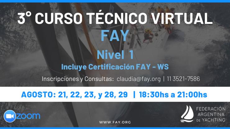 3er Curso Técnico FAY - Agosto 2020