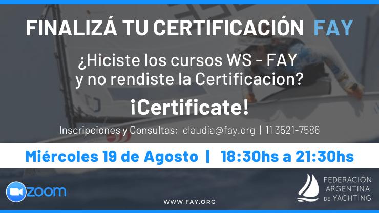 Certificación FAY Curso Técnico Nivel 1