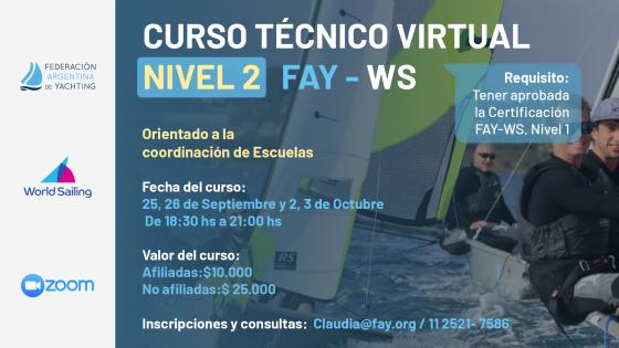 Flyer 3er Curso FAY - Para Entrenadores Náuticos - Nueva Fecha