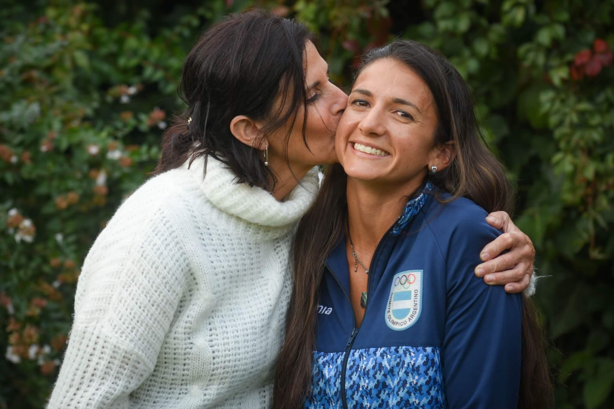 Celia Tejerina y su madre