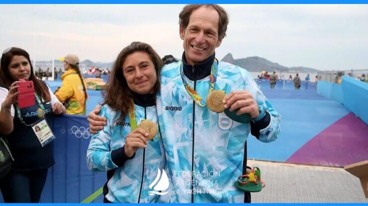 Santiago Lange y Cecilia Carranza Abanderados