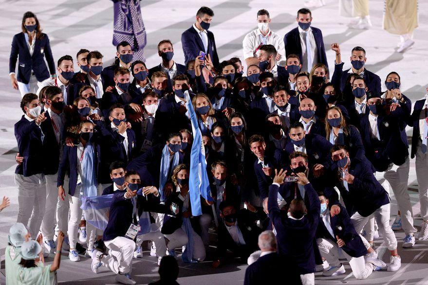 Delegacion Argentina en la inauguracion de los JJOO - Patrick Smith - Gett y
