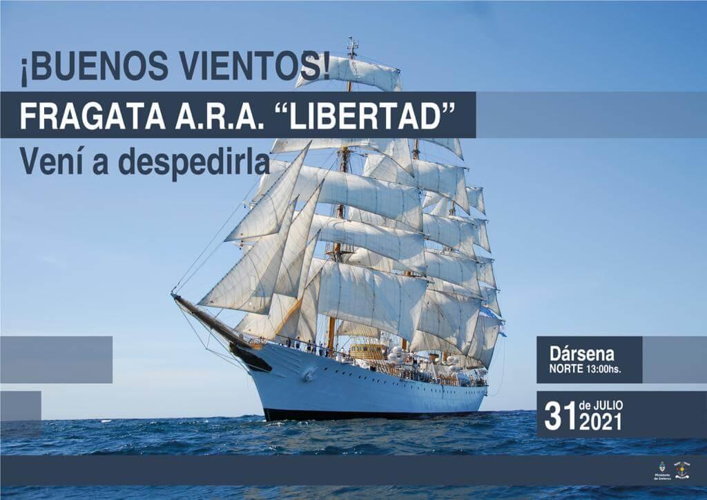 Despedida Fragata Libertad 2021