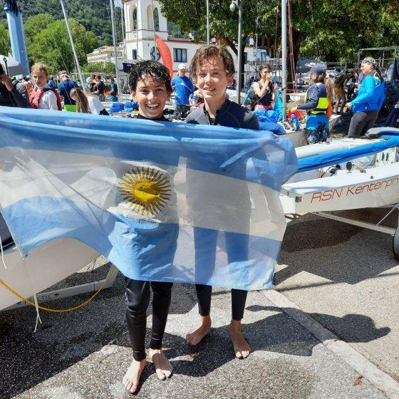 Campeonato Mundial de Cadet - Italia 2021- argentinos con la bandera