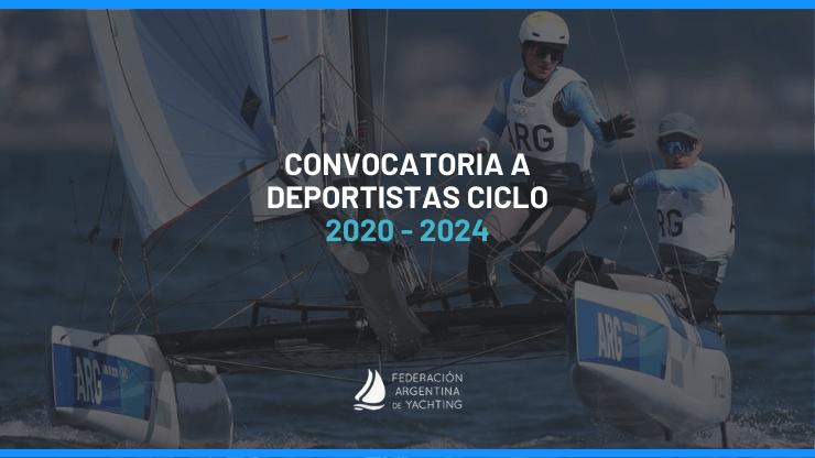 Convocatoria a deportistas ciclo 2020-2024