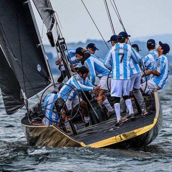 Equipo Argentino navegando en la SSL Gold Cup - 2